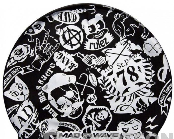 printed swimming cap