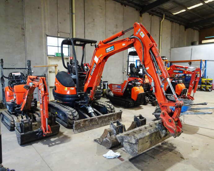 Kubota Range of Mini Excavators